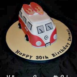 Volkswagon Caravanette Camper Van 30th Birthday Cake