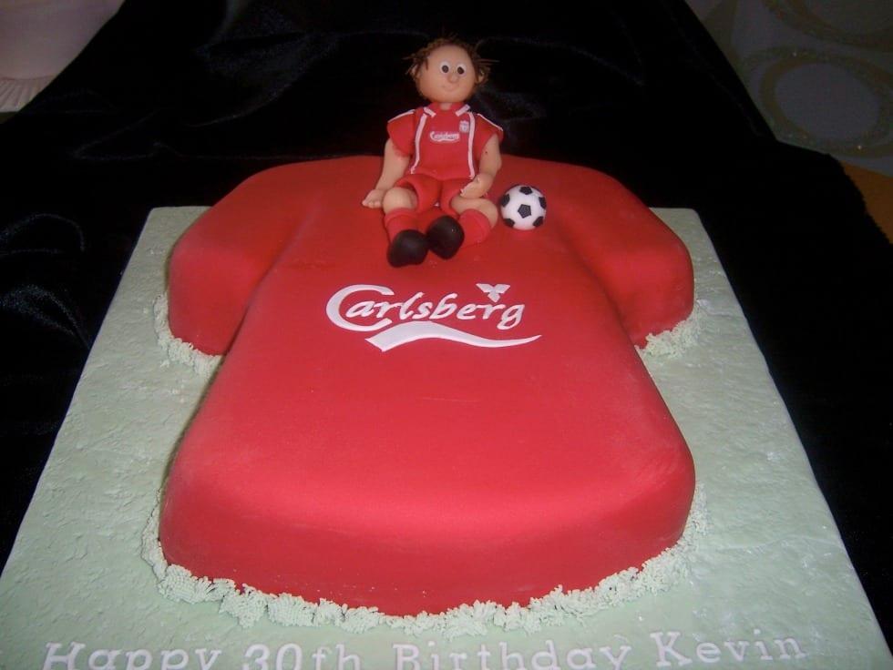 Liverpool Football Shirt Cake