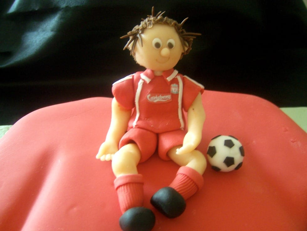 Liverpool Football Player Cake Topper