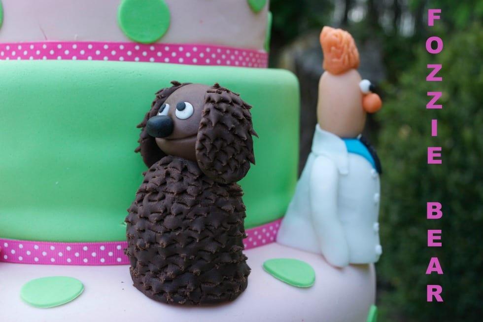 Fozzie Bear Sugar Cake Topper Muppets Cake