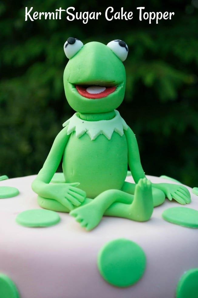 Kermit the Frog Sugar Cake Topper Muppets Cake