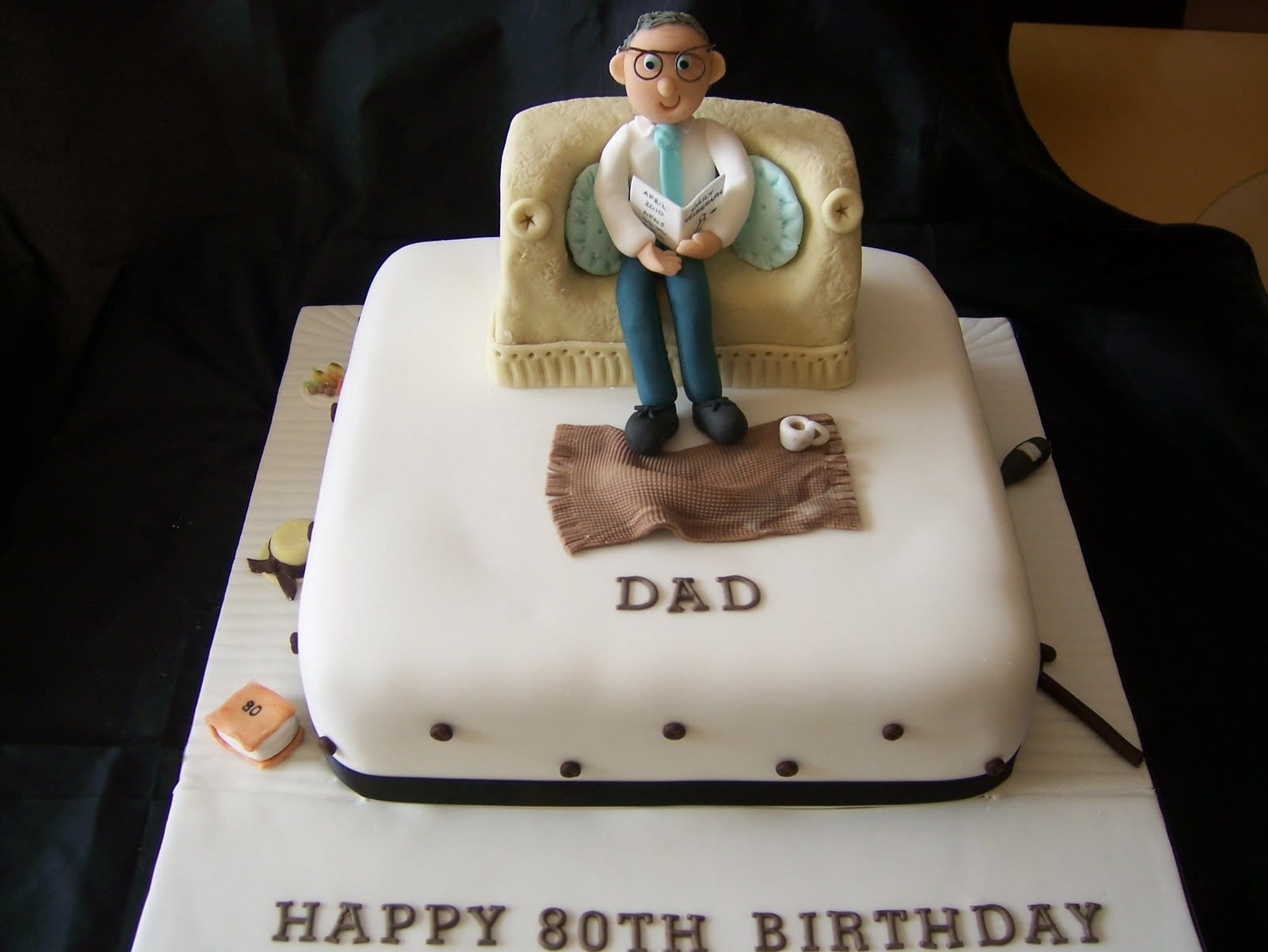 80th Birthday Cake A Dad In His Armchair And A Lovely Chat