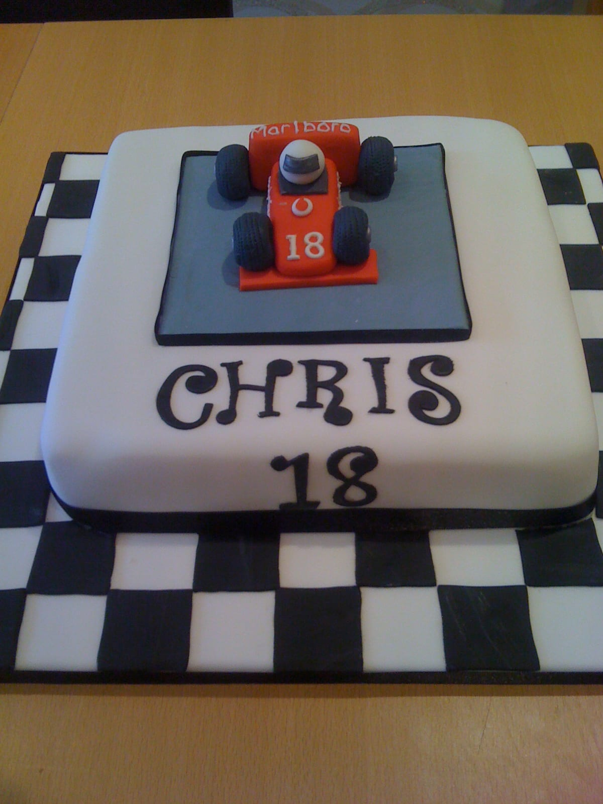 Formula 1 18th Birthday Cake