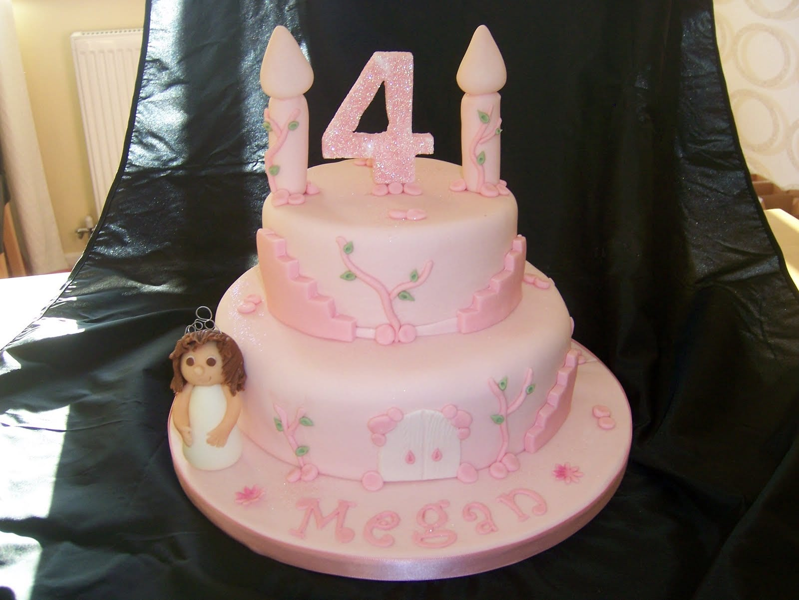 4th Birthday Princess Castle Cake