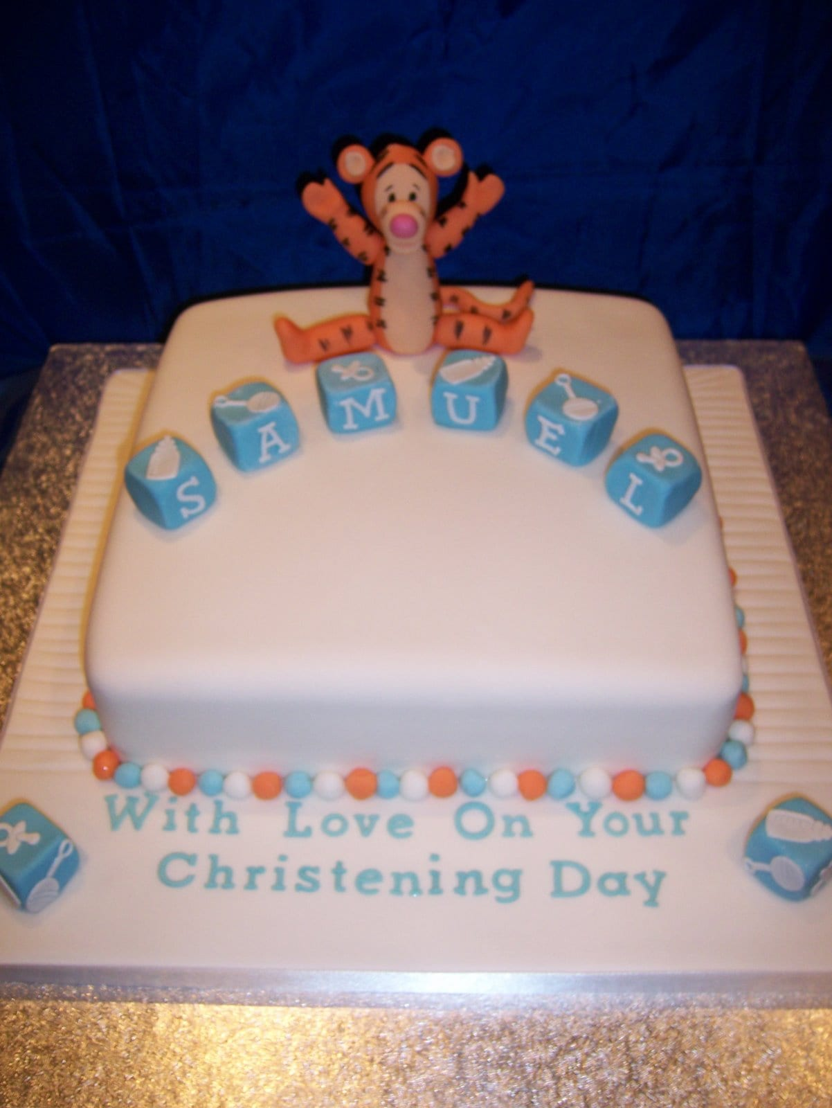 Tigger Christening Cake