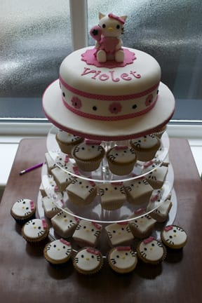 Cake of the week – Hello Kitty Cake & Cupcakes