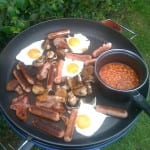 caravan food, caravan recipes, fry up on a Cadac, Cadac cuisine