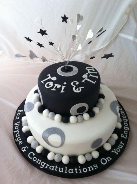 Cake of the Week – Engagement/Emigration Cake – NaBloPoMo 4