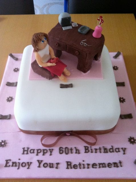 Cake Of The Week Office Worker Retirement Cake Casa