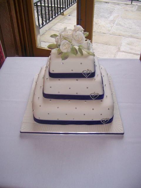 Purple Sparkly Wedding Cake – Edible Diamontes