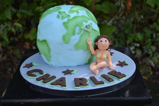 Cake of the Week – Globe Cake and Naked Lady Cake