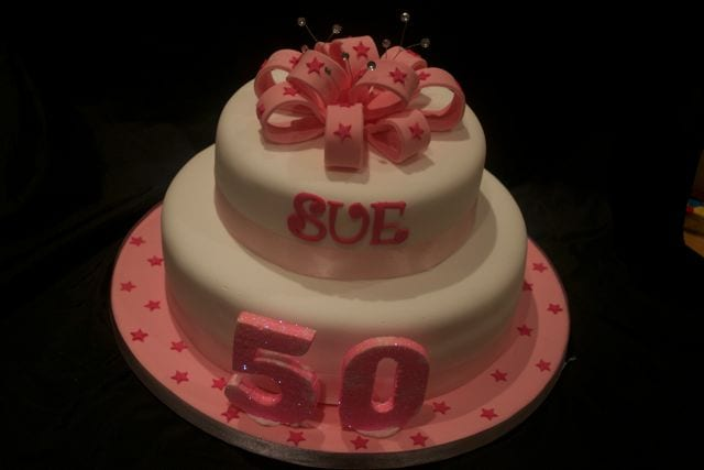 Brilliant Pink 50Th Birthday Cake Cake Of The Week Casa Costello Funny Birthday Cards Online Alyptdamsfinfo
