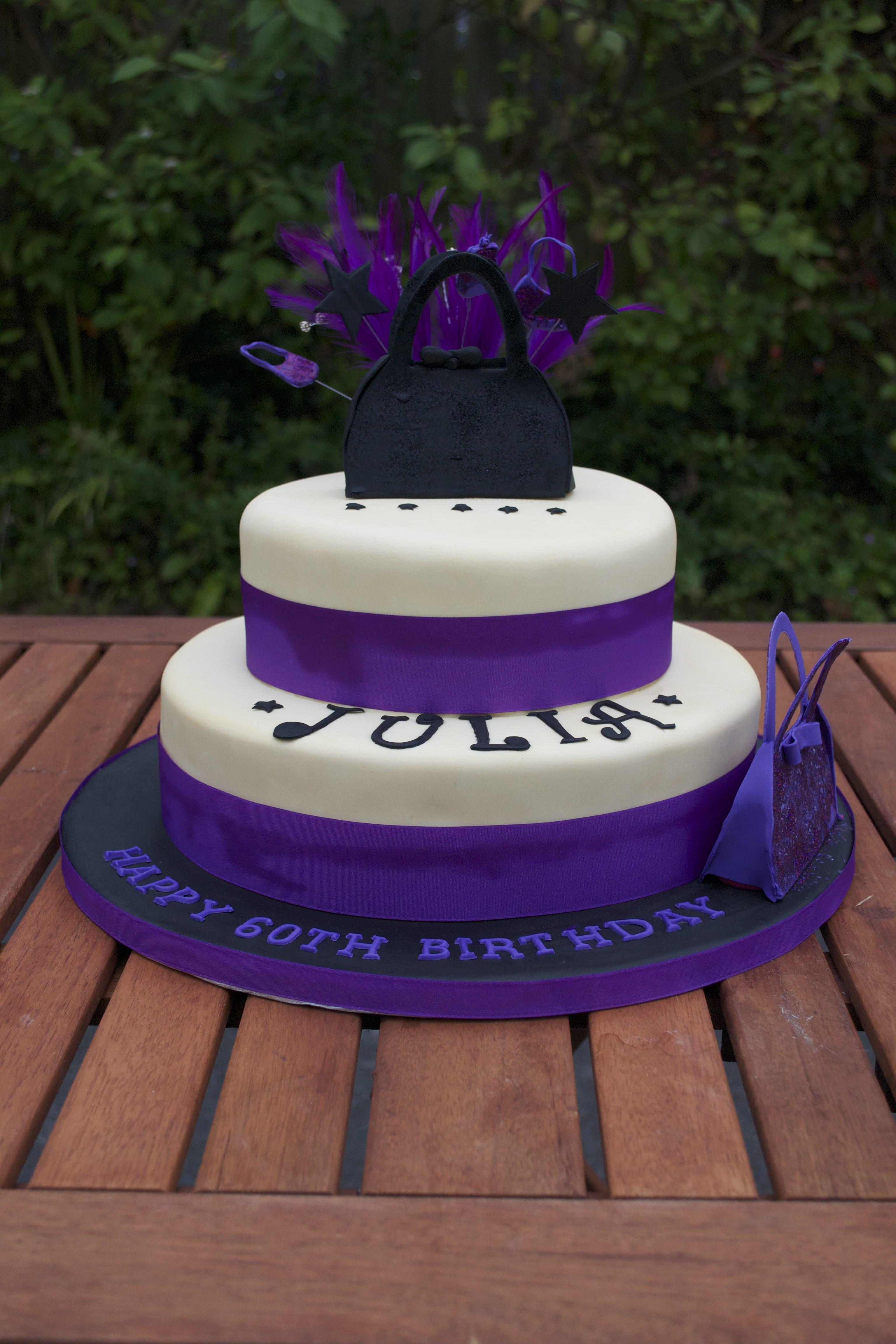 Purple And Black Cakes