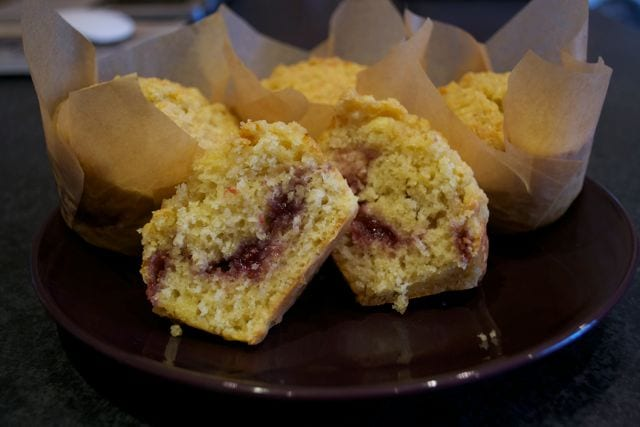 Jammy Muffins with Streusel
