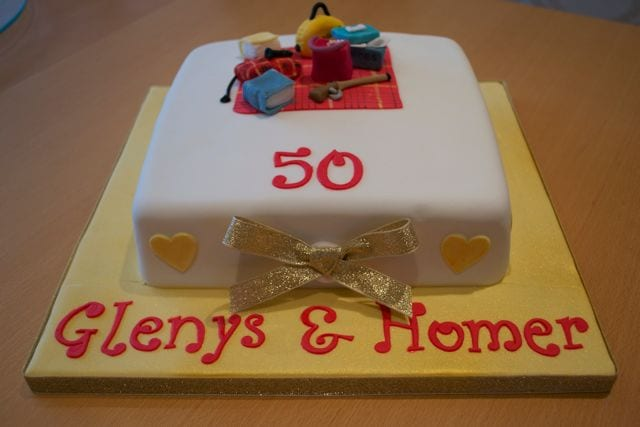 the Costello kitchen this week was a 50th wedding anniversary cake