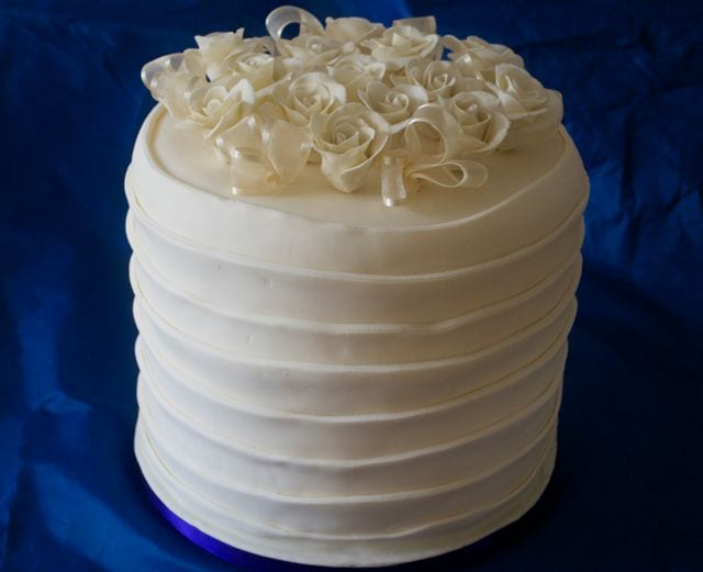 Cake of the Week – Extra Tall Rose Wedding Cake