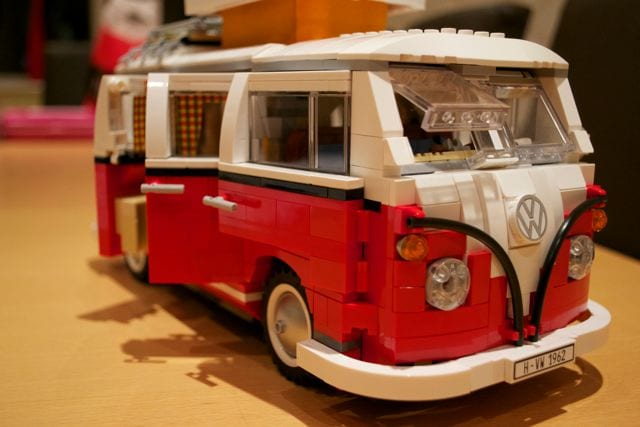 Lego camper side and front view
