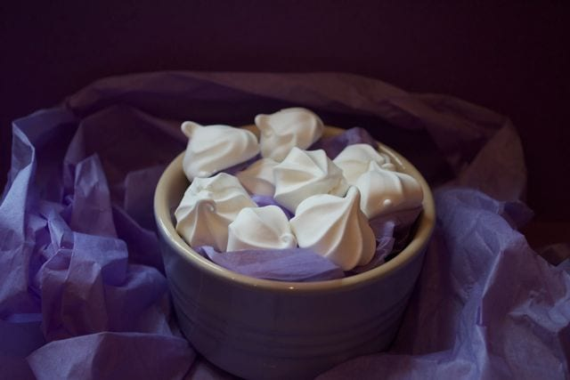 Violet Meringue Kisses