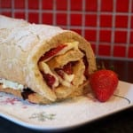 Simple Swiss Roll Recipe filled with fresh fruit