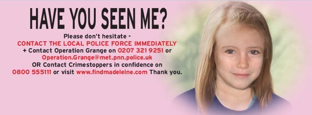 what to do if you think you see madeleine mccann