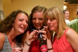 3 sisters drinking 3 sisters beer!