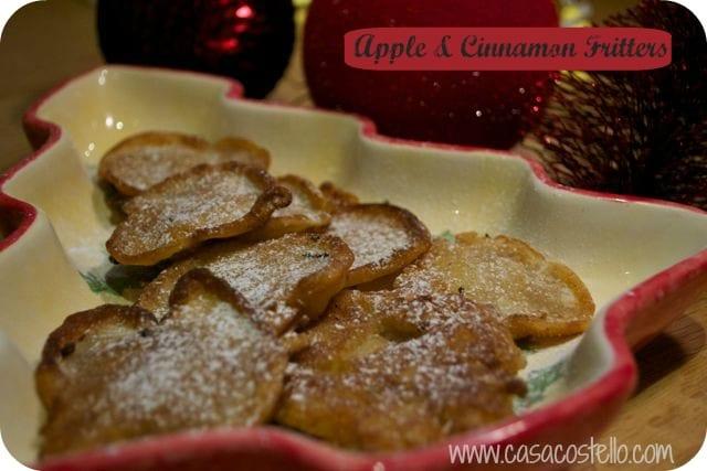 apple cinnamon sugar fritters