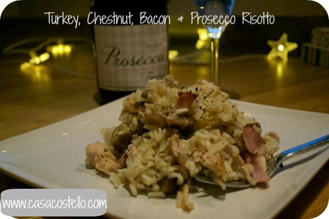 turkey, chestnut, oven risotto