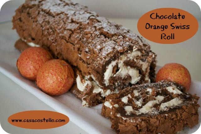 using up leftover chocolate orange swiss roll