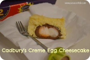 Cadbury's Creme Egg Cheesecake