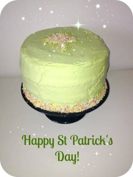 irish green cake recipe