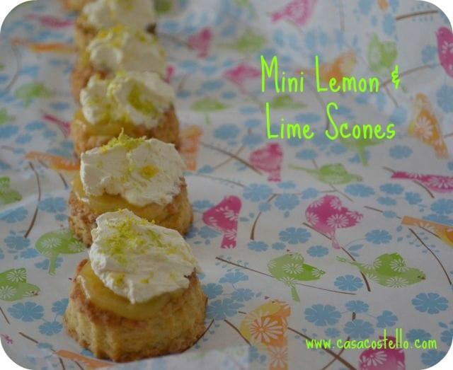 Mini Lemon & Lime Scones