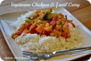 Vegetable Chickpea & Lentil Curry