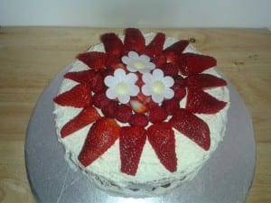lemon strawberry cake