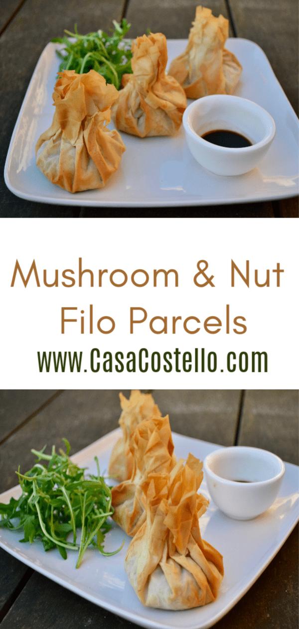 Mushroom & Nut Filo Parcels