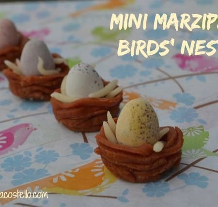 how to make mini marzipan birds' nests