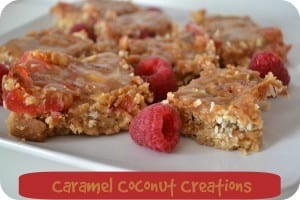 Caramel Cookies with Chocolate, Cherries & Coconut