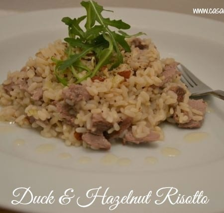 Duck & Hazelnut Risotto with Maille Hazelnut Oil