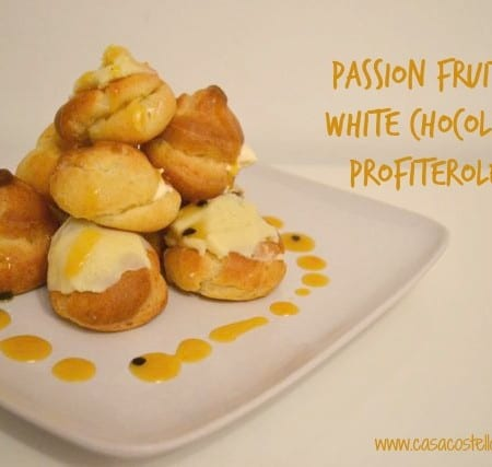 passion fruit choux pastry