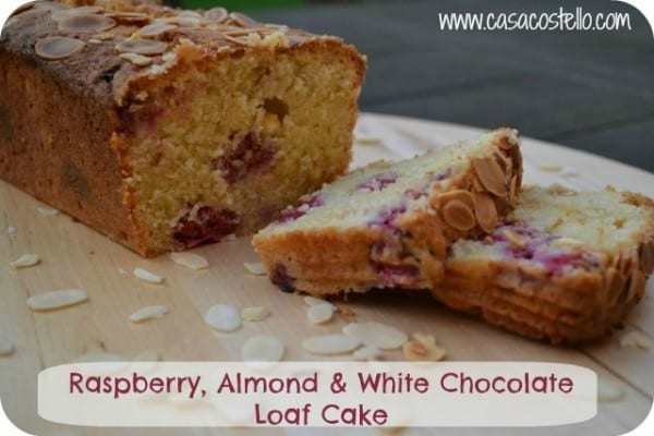 Tasty Loaf cake recipe using raspberries & white chocolate