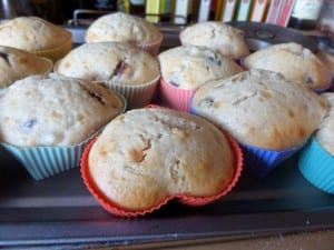 pear myrtle muffins