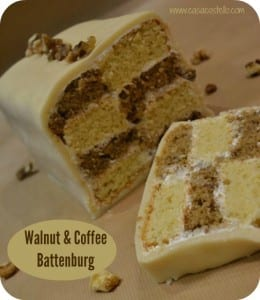 Walnut & Coffee Battenburg