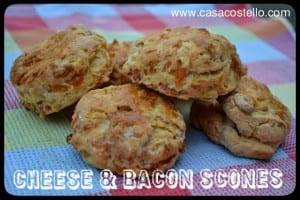 Bacon Scones = With Cheese or Maple