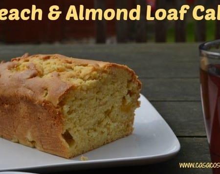 Peach Almond Loaf Cake