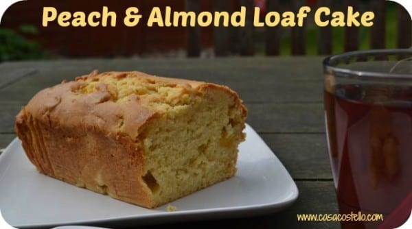Peach Almond Loaf Cake