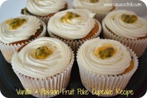 Passion Fruit Poke Cupcakes