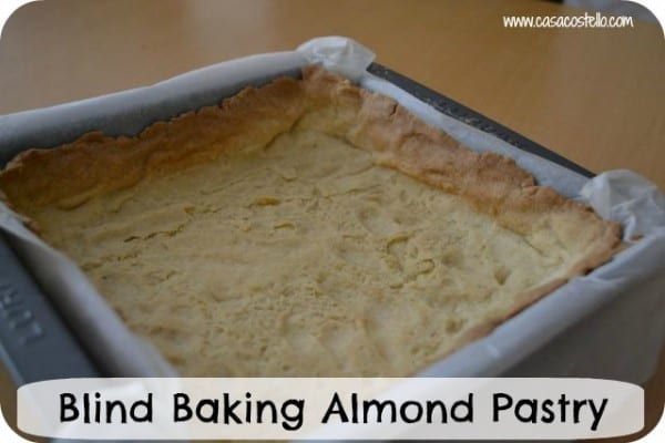 blind baking almond pastry