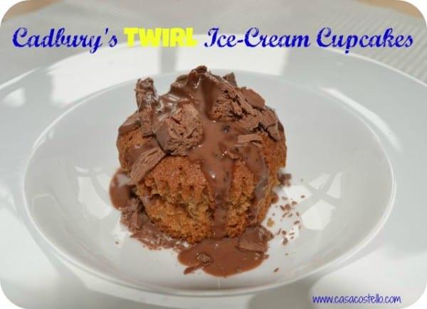 cadbury's twirl ice-cream cupcakes