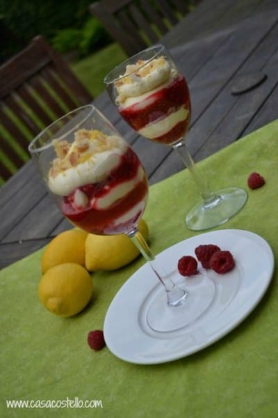 lemon raspberry cream sundae