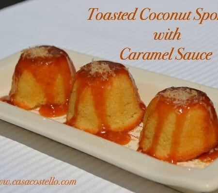 Toasted Coconut Sponges with Caramel Sauce – Bake of the Week