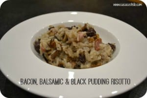Bacon, Balsamic & Black Pudding Organic Risotto